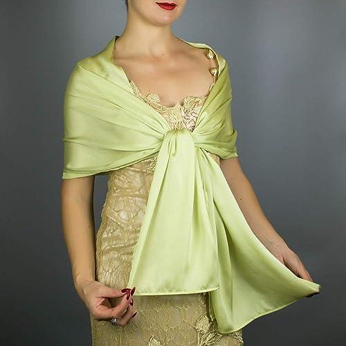le più votate più recenti Acquista i più venduti vendita più calda Stole donna saten scialli vestito da sposa nuziale poncho ...