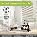 Hammer-Vogatore-dacqua-Premium-Ocean-One-con-20-programmi-esperienza-di-canottaggio-realistica-grazie-alla-resistenza-allacqua-salvaspazio-140-kg-200-x-54-x-117-cm