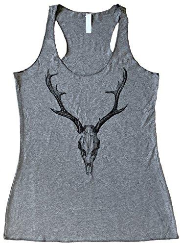 friendly-oak-womens-deer-skull-tank-top-m-heather-grey