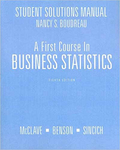 Download A First Course in Business Statistics Student Solutions Manual PDF, azw (Kindle), ePub