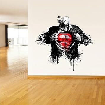 Nice Amazon.com: Full Color Wall Decal Mural Sticker Decor Art Beautyfull Cute  Man Superman Sign Art Water Paint (Col609): Home U0026 Kitchen