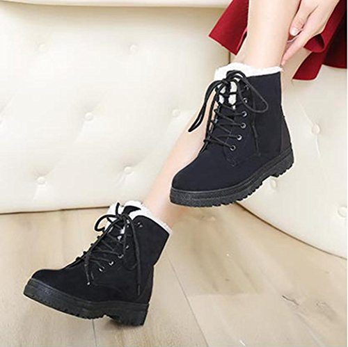 Gillberry New Classic Womens Warm Shoes Snow Boots Moda Inverno Stivali Corti Neri