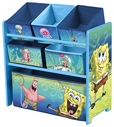 Delta Children Multi-Bin Toy Organizer, Nickelodeon SpongeBo
