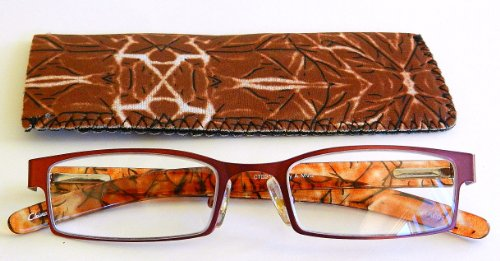 Foster Grant / Magnivision (+2.75) Burgandy Reading Glasses with Case- - Sunglasses Magnivision
