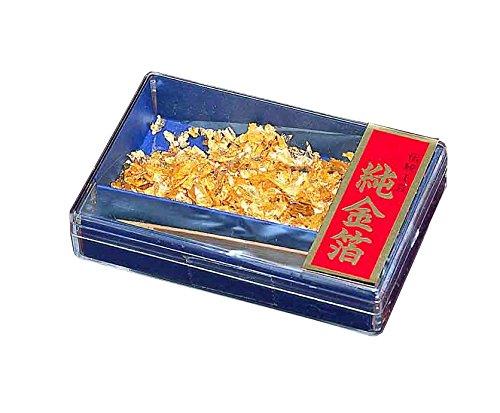 Gold Leaf Box from Japan - Haku Serie: T18-02 Small Box w/ spatula by Tajima