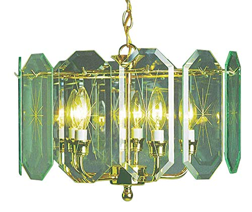 Volume Lighting V3195-C2 Chandelier, 17 x 17 x 12 , Polish Brass Finish