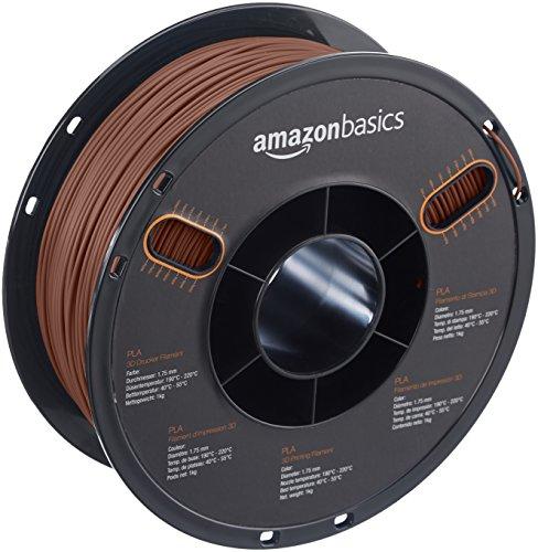 AmazonBasics PLA 3D Printer Filament, 1.75mm, Copper, 1 kg Spool