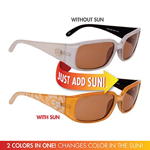 Solize Color-Changing Polarized Sunglass by Del Sol Against Theft, Loss or Damage (My Diane - Clear to Gold, Del Sol Polarized - Changing Color Sunglasses