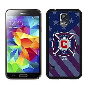 Fashionable And Antiskid Designed MLS Chicago Fire Samsung Galaxy S5 I9600 G900a G900v G900p G900t G900w Case Cover 01 Black