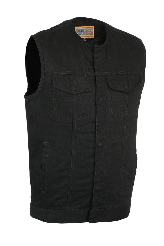 Black, XXX-Large Milwaukee Mens Side Lace Vest with Buffalo Snaps LKM3701-BLK-3XL