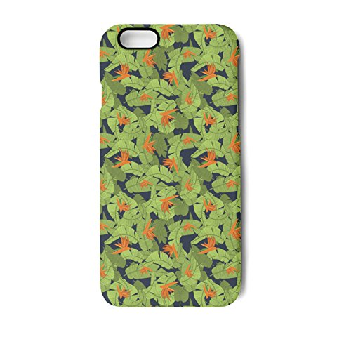 Tropical Flower Print IPhone 6/6s/6plus/6s Plus/7/7 Plus/8/8 Plus Case Plate And Soft TPU Fit Shell