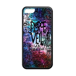 Sunbeam DIY Fashion Printed Music Band Pierce the Veil Pattern Custom Case Cover For iPhone 5/5s(Laser Technology)