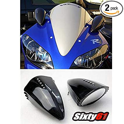 Amazon Com Sixty61 Pig Spotter Mirrors For Yamaha R1 R6 1999 2019