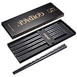 Goldage 5-Pairs Fiberglass Dishwasher-safe Chopsticks (Japanese Minimalism - Kalanchoe Blossfeldiana)