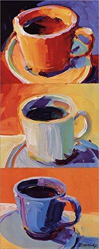 Three Cups o' Joe I by Robert Burridge Double Sided Laminate, 8 x 20 inches