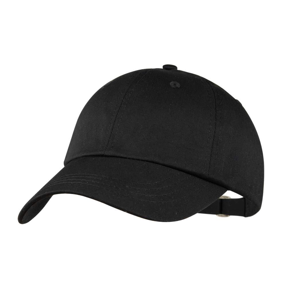 Yamanman Men Women Baseball Cap Black Hat Adjustable Cotton Hat Washed  Twill Plain Ball Cap Low Profile for Travel Golf Climbing (Black) at Amazon  Men s ... 1d41e880ba
