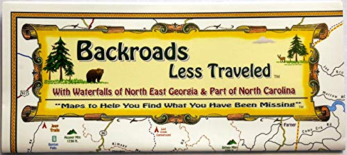 - Georgia Map, North East areas - Backroads Less Traveled Map - Folded