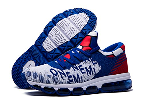 Print OneMix White Women's Letter Cushion Air Royal Mesh Men's Sneakers Running Blue n6xwB6gA