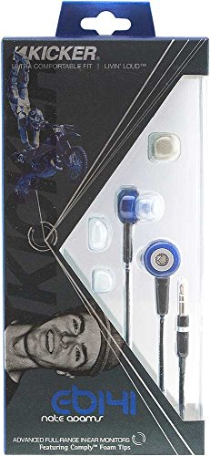 Kicker EB141 Advanced In-Ear Monitors (Blue) - Kicker Headphones Speakers
