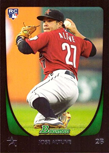 2011 Bowman Baseball Rookie Card - 2011 Bowman Draft Baseball #11 Jose Altuve Rookie Card