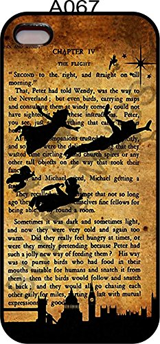 Apple Iphone 5 5s Rubber Case Cover Peter Pan 1911 Novel Quote Tinkerbell Neverland Phone Fairy Princess