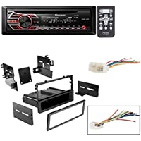 HONDA 1999 - 2000 CIVIC CAR STEREO DASH INSTALL MOUNTING KIT WIRE HARNESS With Pioneer DEH-150MP CD Digital Music Player Receivers