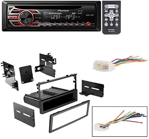 HONDA 1999 - 2000 CIVIC CAR STEREO DASH INSTALL MOUNTING KIT WIRE HARNESS With Pioneer DEH-150MP CD Digital Music Player Receivers (Repair Pioneer Kit)