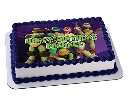Tarta de cumpleaños de las Tortugas Ninja personalizado ...