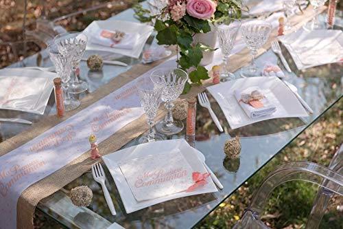 REF//6298-20 Serviettes de table communion corail