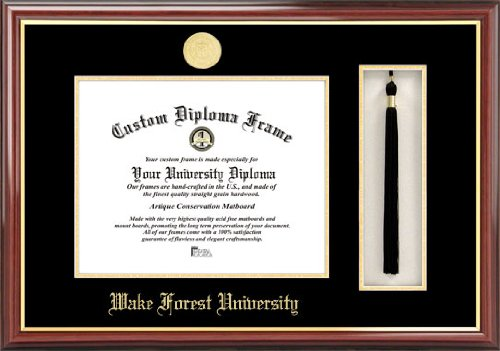 NCAA Wake Forest Demon Deacons Tassel Box and Diploma Frame by Campus Images