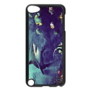 Zheng caseZheng caseDesign Case Cute Shark Underwater Sea Shark Jumping Print on Hard Plastic Back Case Cover iphone 4/4s touch 5 Case Perfect as Christmas gift(4)