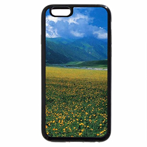 iPhone 6S / iPhone 6 Case (Black) Field of Yellow Flowers