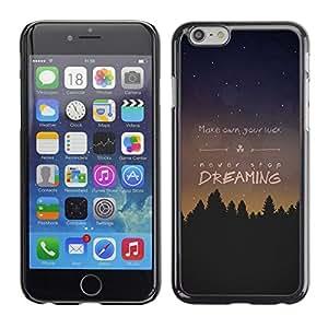 Dragon Case - FOR iPhone 6 - make own you luck - Caja protectora de pl??stico duro de la cubierta Dise?¡Ào Slim Fit