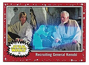 2017 Topps Star Wars Journey to The Last Jedi 1/1 Imperial RED 65 Recruiting General Kenobi
