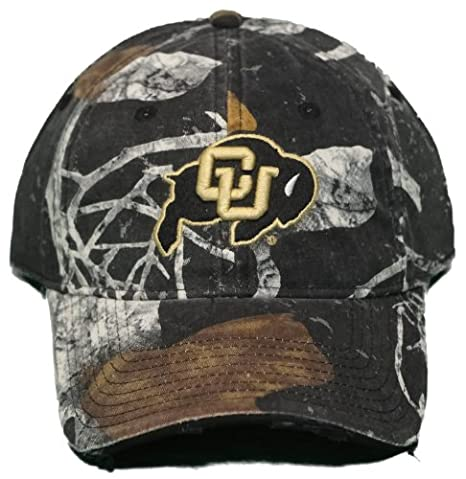 reputable site 537f7 a4c2f Image Unavailable. Image not available for. Color  New! University of  Colorado Buffaloes Adjustable Buckle Back Camo Cap ...