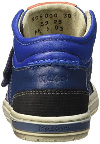Kickers Igor - Zapatilla Baja Niños Bleu (Bleu/Orange)