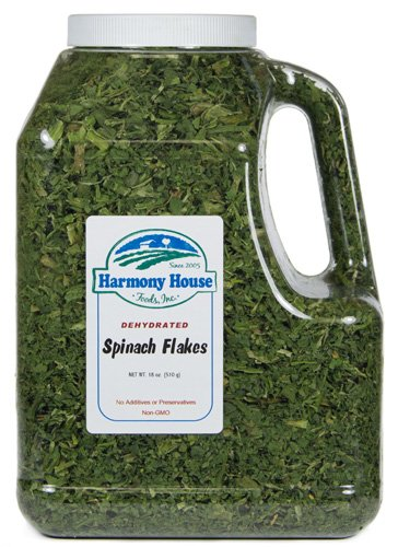 Harmony House Foods, Dehydrated Spinach (18 oz, Gallon Jug Size)