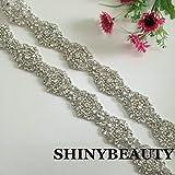 Wedding Sash Applique,ivory Crystal Wedding Belt, Ivory Wedding Sash, Ivory Crystal Rhinestone Sash