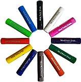 Mod Paint Sticks: Solid Tempura Paint Markers (Black, White, Brown, Light Blue, Dark Blue, Light Green, Dark Green, Dark Purple, Orange, Yellow, Red, Pink, 12 Quantity, 4-inch L X 3/4 in. Dia)
