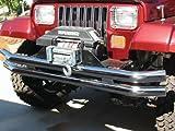 #9: RAMPAGE PRODUCTS 7649 Black Front/Rear Tube Bumper for 1976-2006 Jeep CJ, Wrangler YJ & TJ