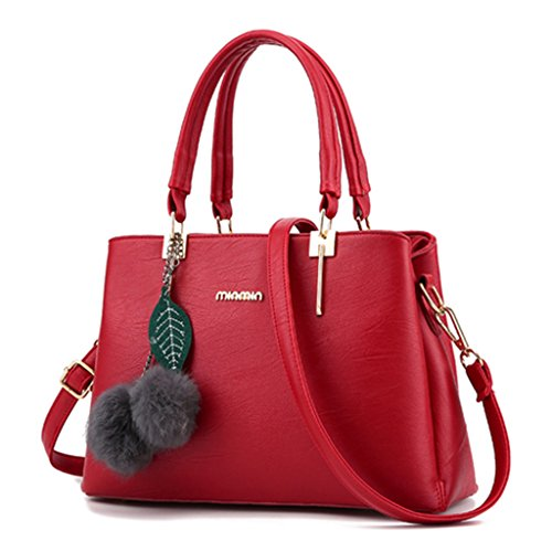 FK - Bolso mochila  para mujer rojo vino