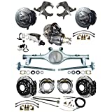 """NEW 2"""" DROP SUSPENSION & BRAKE SET WITH CURRIE REAR END & AXLES, POSI GEAR, BLACK WILWOOD CALIPERS, DRILLED DISCS, MASTER CYLINDER, 78-88 G-BODY CHEVY EL CAMINO MONTE CARLO BUICK OLDS CUTLASS PONTIAC"""