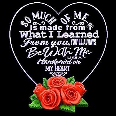 غيفتس فور موم هدية للأم على شكل قلب الحب هدية للجدة هدايا للأب 7 ألوان متغيرة Amazon Ae
