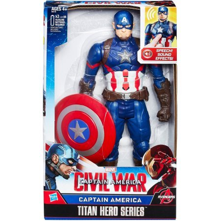 "Marvel Titan Hero Series Captain America Electronic Figure /Size: 12"""