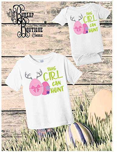 7757e95d Image Unavailable. Image not available for. Color: Handmade Easter This  girl can Hunt Shirt ...