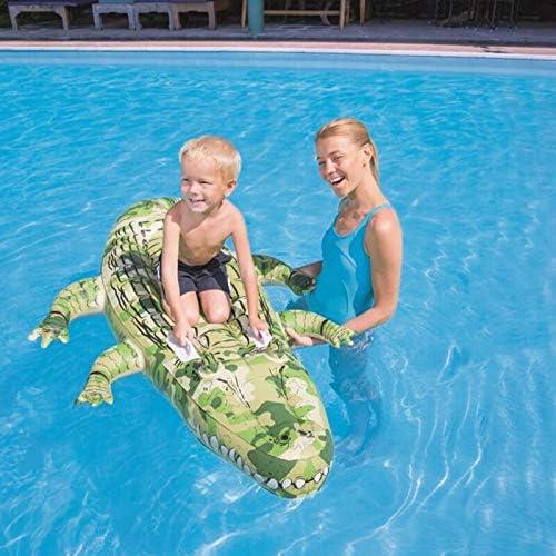 SUNHAON 175 * 102 Cm Flotabilidad Grande Flotante De Cocodrilo Inflable Balsa Flotador Piscina Cama Flotador Juguetes para Niños Camuflaje Silla Flotador: Amazon.es: Jardín