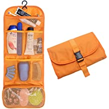 Hanging Travel Toiletry Bags Cosmetic Pouch Handbag Waterproof Compact Toiltry organizer Christmas Gifts Orange (1 Orange)