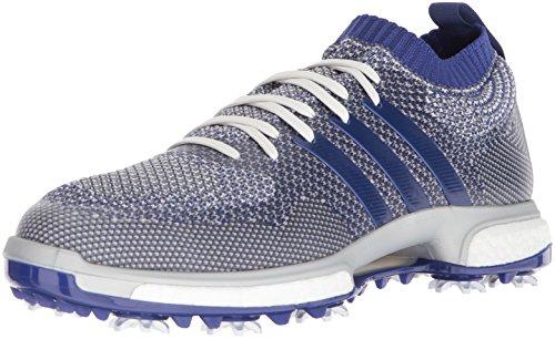adidas Men's TOUR360 Knit Golf Shoe, Grey one/Real Purple FTWR White, 8 Medium ()