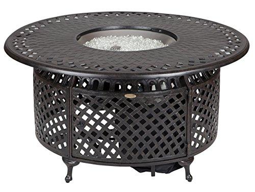 Fire Sense Venza Cast Aluminum Round LPG Fire Pit