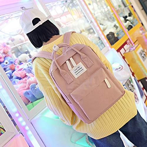 2 in 1 Women Backpack - Large Capacity Handbag can Hold Laptop - Multi-Pocket Waterproof Travel School Bag for Teenagers (Pink) by Miressa